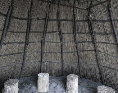Adăposturi tradiționale construite în Delta Dunării, la Letea