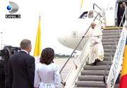Papa in Romania 2019. Președintele României l-a întâmpinat