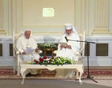 Papa în România 2019. Papa Francisc s-a întâlnit cu Patriarhul Daniel