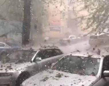 Imagini catastrofale cu furtuna violentă din Sălaj, după codul roșu de grindină. A...