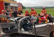 Accident grav pe DN1, în această dimineaţă. Două victime încarcerate. Imagini dramatice de la locul accidentului