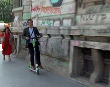 VIDEO | Trotinetele electrice, o soluție cu ceva probleme