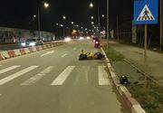 O poliţistă în vârstă de 23 de ani a fost accidentată de un motociclist băut, în Năvodari