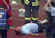 Incidente grave la finalul meciului U Cluj - Hermannstadt. Un jandarm a fost rănit - VIDEO