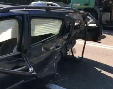 Accident grav în Constanţa: Două persoane au fost rănite - VIDEO