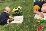 VIDEO  Imagini copleșitoare. Un copil merge la mormântul tatălui și îl roagă să se joace cu el