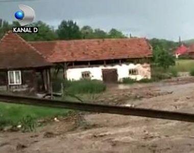 VIDEO | Potop în Bistrița. Zeci de gospodării, măturate de apele dezlănțuite