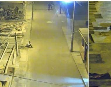 Un băiat a fost filmat în timp ce își făcea temele în stradă pentru că acasă nu avea...