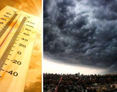 Cod galben de furtuni temporare în 31 de judeţe, până la ora 22.00! Se vor înregistra...
