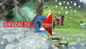 VIDEO |  30 de oameni au fost răniți grav de grindină! Au fost surprinși în munți și s-au ales cu tăieturi și lovituri puternice
