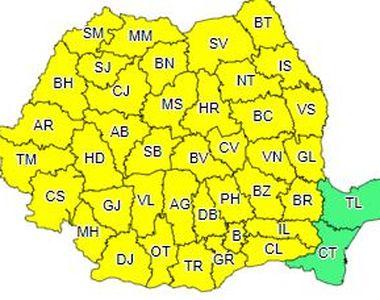 Cod galben de instabilitate atmosferică accentuată în aproape toată ţara
