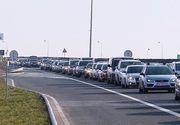 Aglomeraţie pe autostrăzile A1 şi A2, pe sensul spre Capitală