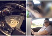 Şoferiţa care bea bere la volan, live pe facebook, şi apoi şi-a ucis nepoata. Avea 120 km/h