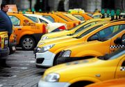Aproape 300 de taximetrişti protestează în Piaţa Constituţiei