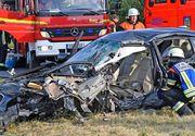 Accident mortal pe o șosea din Germania. Bolidul de 35.000 € făcut praf