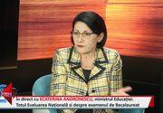 Interviu EXCLUSIV în studioul stirilekanald.ro! Ministrul Ecaterina Andronescu a explicat ce se va schimba în legea Învățământului și ce va aduce nou sistemul de Bacalaureat!