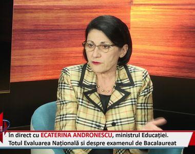 Interviu EXCLUSIV în studioul stirilekanald.ro! Ministrul Ecaterina Andronescu a...