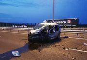 VIDEO   Accident pe autostrada A1, sensul de mers Traian Vuia-Timişoara . Doi adulţi au murit, iar doi copii au fost grav răniţi