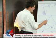 EVALUARE NAŢIONALĂ 2019. Profesorul Nicuşor Dan a rezolvat subiectele la matematică, live pentru Stirilekanald.ro