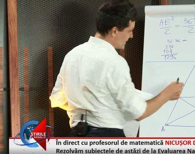 EVALUARE NAŢIONALĂ 2019. Profesorul Nicuşor Dan a rezolvat subiectele la matematică,...