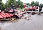Acoperişul şcolii din comuna Castelu a fost smuls de vânt