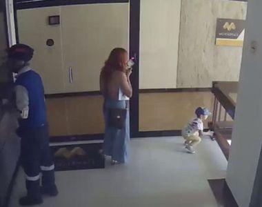 Reacția uluitoare a unei femei pentru a-și salva fiul - FOTO