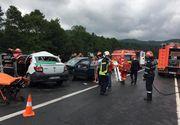 Accident cu şase răniţi pe DN 1; două maşni s-au ciocnit, traficul fiind blocat între Codlea şi Făgăraş