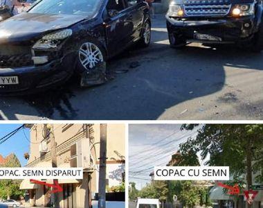 Actorul Cosmin Dominte - accident în București, într-o intersecție în care semnul...