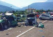 Un român a provocat un grav accident rutier în Italia, cu 6 maşini: 12 victime în stare gravă