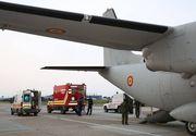 O navă Spartan a efectuat un zbor umanitar de urgenţă pentru transportul unui pacient care a suferit arsuri pe 55 la sută din suprafaţa corpului; pacientul a fost dus în Italia