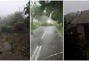 Furtună în România! Mai multe locuinţe au rămas fără acoperiş, iar arbori au fost rupţi, în urma unei furtuni puternice