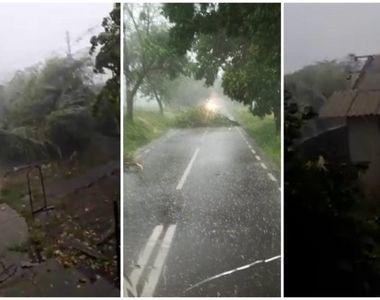 Furtună în România! Mai multe locuinţe au rămas fără acoperiş, iar arbori au fost...
