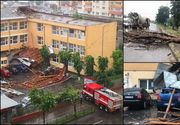 Furtuna a făcut dezastru în Bacău în doar zece minute. Imagini incredibile