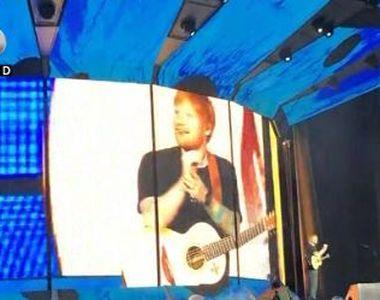 VIDEO   Ed Sheeran în România. Pregătiri pentru marele concert