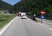 Tir răsturnat pe DN7! Trafic blocat pe sensul Sibiu - Râmnicu Vâlcea