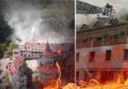 VIDEO | Incendiu de amploare la o mănăstire din Alba