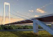 Un bărbat a murit pe şantierul podului suspendat peste Dunăre, fiind strivit de câteva ţevi