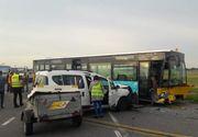 VIDEO | Accident cumplit în Aeroportul Otopeni! Patru oameni au ajuns la spital după ce un autoturism și un autobuz s-au lovit