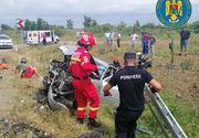 Accident grav în Satu Mare: Două autoturisme s-au ciocnit frontal. Patru persoane au fost rănite