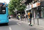 VIDEO | Cât de periculos este să circuli cu trotinetele electrice în București. Numărul accidentelor crește