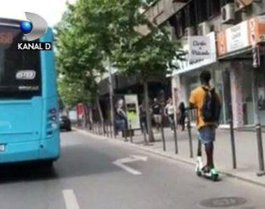 VIDEO | Cât de periculos este să circuli cu trotinetele electrice în București. Numărul...