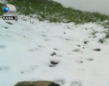 VIDEO | Iarnă în plină vară, la Bâlea Lac. A nins si e frig