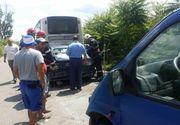 Accident grav în Timiș, cu 40 de persoane implicate. Imagini dramatice
