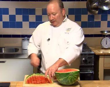 Cum să tai un pepene ca un adevărat Chef - VIDEO