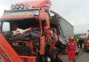 Accident violent în Suceava: Un TIR și un camion s-au ciocnit