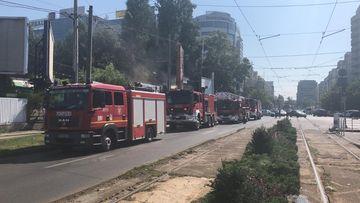 Grav incendiu la un restaurant din Capitală
