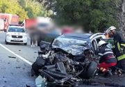 Doi morţi şi cinci răniţi, după ce o autocisternă şi două autoturisme s-au ciocnit! Traficul pe DN 7 a fost blocat complet