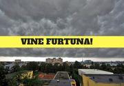 Cod galben de furtuni în cinci judeţe, în următoarea oră! Meteorologii anunţă precipitaţii, descărcări electrice şi rafale de vânt