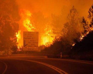 Incendiu în Portugalia: mii de oameni au fost evacuați! Pompierii se luptă cu flăcările