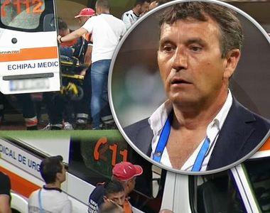 Meciul Dinamo - Craiova a fost întrerupt! Antrenorul de la Dinamo, luat de urgență cu...